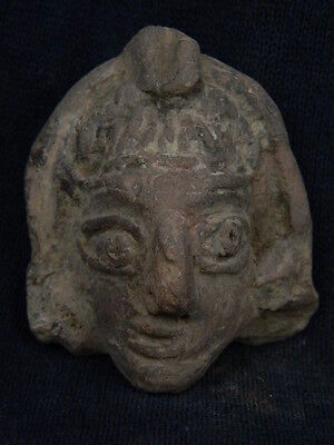 Ancient Teracotta Head Bactrian C.300 BC    #TR574