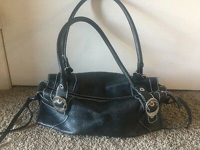 DOLCE   GABBANA Authentic Black Leather Pebbled Satchel Handbag ... 959849d7119af