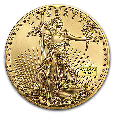 Bank Wire Payment.1 oz Gold American Eagle BU (Random Year) - Lot of 5