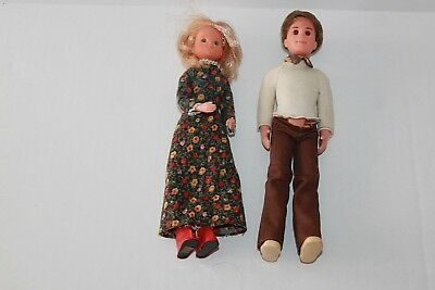 Vintage Mattel The Sunshine Family Blonde Mom & Brunette Dad 1973