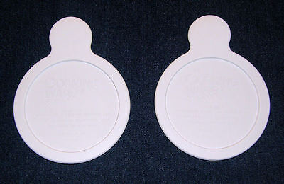 2 NEW Pyrex Corning Ware White Plastic Grab It LIDS P-150-CPC * FREE SHIPPING
