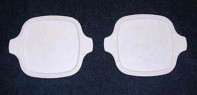 2 NEW Corning Ware Petite Lids fit ALL P-41 P-43 Petite Dish Plastic Covers MINT