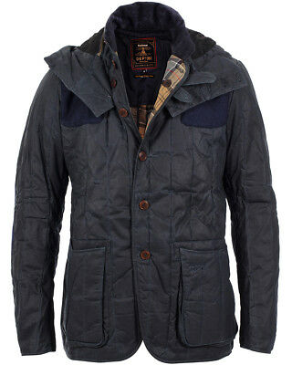 BARBOUR Dept B NWT Waxed Cotton Blue Dragh for J. Crew Sports Jacket To Ki To