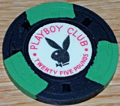 25Lb Gaming Chip From The Playboy Casino London England