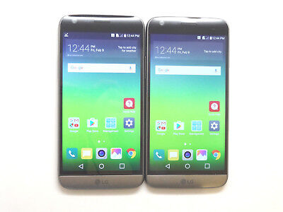 Lot of 2 LG G5 RS988 32GB GSM Unlocked Smartphones AS-IS