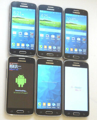Lot of 6 Samsung Galaxy Avant SM-G386T T-Mobile Smartphones AS-IS GSM
