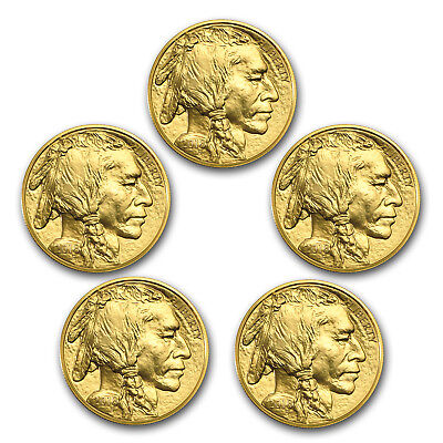 Bank Wire Payment. 2018 1 oz Gold Buffalo BU (Lot of 5) - SKU #162744