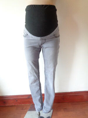 New Look Maternity Grey Over Bump Skinny Jeans Jeggings Size 10