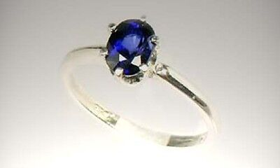 Blue Sapphire Ring 1¼ct Antique 19thC Medieval Ram Engraved Talisman Black Magic