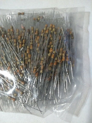 100pcs 330 Ohm Carbon Film Resistor 1/4W .25W 5%