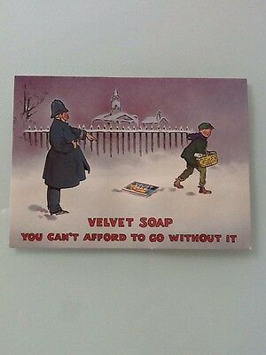 Velvet Soap Post Card, You Can't Afford To Go Without It