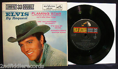 ELVIS PRESLEY-Elvis By Request-Picture Sleeve & EP 45-RCA VICTOR #LPC 128