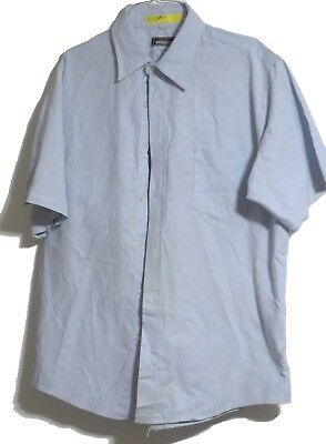 CINTAS BLUE SHORT Sleeve Shirts XL 17-1/2 Mens Work Uniform Used Many  available