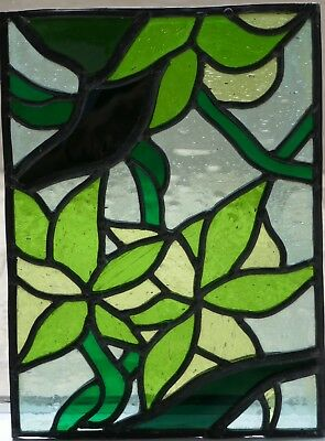 Leadlight glass panels - four