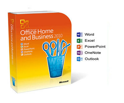 Microsoft Office 2010 Home and Business (Product key + Disk)