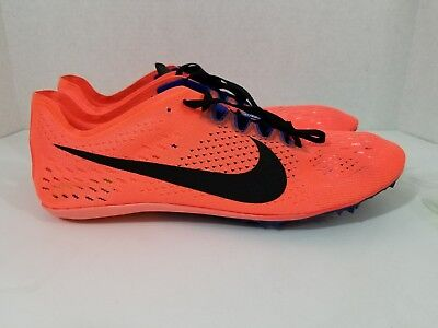Nike Zoom Victory 3 Track & Field Spikes Hyper Orange Black 835997-804 SZ  12.5