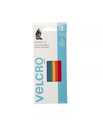"""VELCRO - ONE-WRAP Cable Management, 5 Cable Ties, Reusable, 8""""  Free Shipping"""