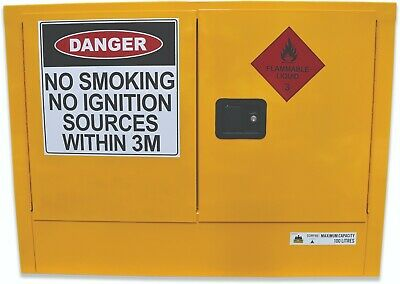 100L Flammable Liquids Cabinet. Australian made to meet Australian Standards