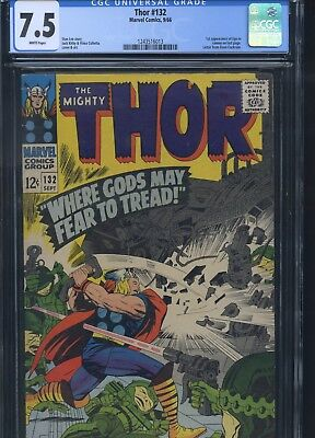 Thor #132 CGC 7.5 1st Appearance of Ego