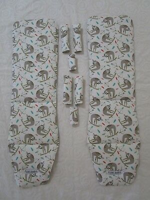 Baby jogger city mini double pram liners set-Jungle Indian sloth-2 liner sets