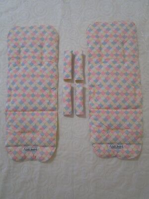Mountain buggy duet pram liners set-Coloured scales-Includes 2 liners.