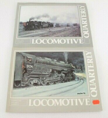 Train Books: Locomotive Quarterly Lot of 2 1978 Fall/Summer  Paperback