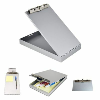 Metal Storage Clipboard Letter Office Document Paper Box Organizer Container New