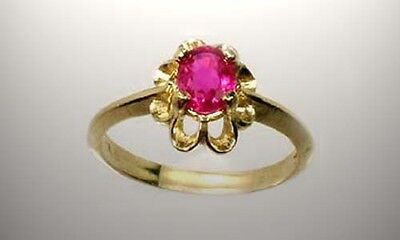 19thC Antique Near Flawless ¾ct Siamese Ruby Medieval England Coronation Plague