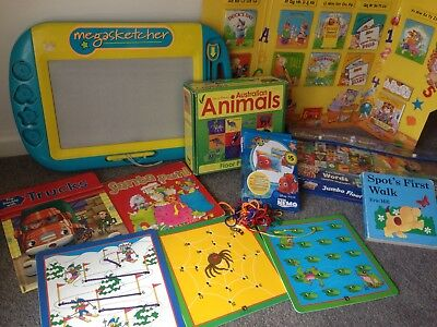 Children Preschool Books/Jigsaw Puzzles/Tracing Cards GUC