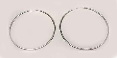 Quality Sterling 32mm Endless Hoops Ancient Egyptian Jewelry Crete Import 1900BC
