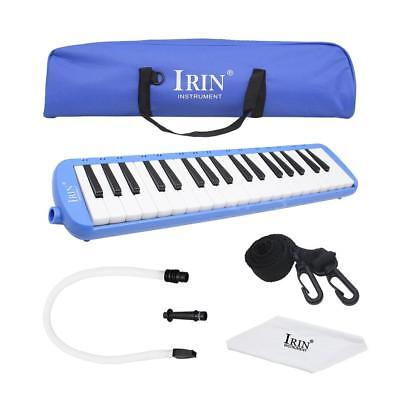 37 Piano Keys Melodica Pianica Musical Instrument with Carrying Bag Blue D5T4