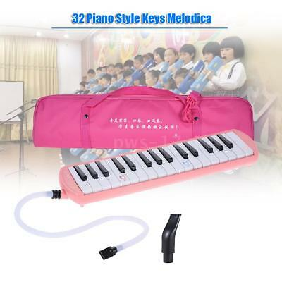 QIMEI 32 Piano Style Keys Melodica for Beginner Kids Children with Bag Pink O0F5