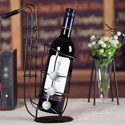 Christmas TOOARTS Metal Sax Wine Rack Beautiful And Practical Rack Crafts J1I4
