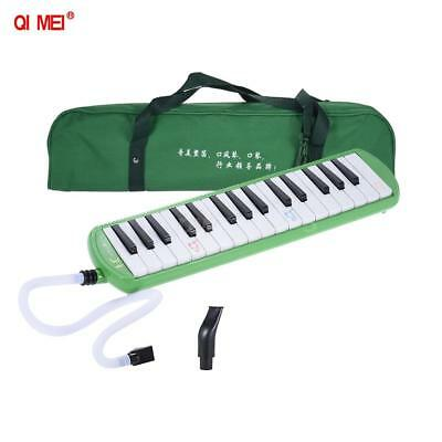 QIMEI 32 Piano Style Keys Melodica Instrument for Beginner Kids Green Z2H1