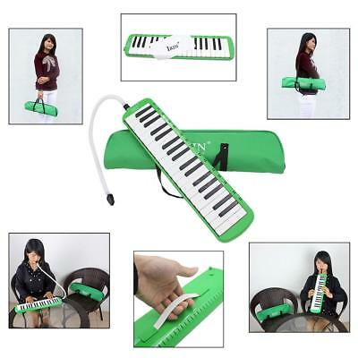 37 Piano Keys Melodica Pianica Musical Instrument with Carrying Bag Green P2U5