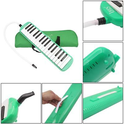 32 Piano Keys Melodica Musical Instrument for Beginners with Bag Green G9P4