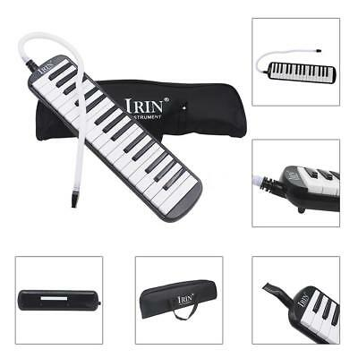 32 Piano Keys Melodica Musical Instrument for Beginners with Bag Black U5Z0