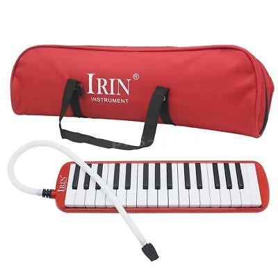 32 Piano Keys Melodica for Beginner Kids Children Gift w/Carrying Bag Red L5X5