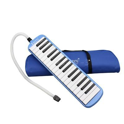 32 Piano Keys Melodica Musical Instrument for Beginners Gift with Bag Blue C5G2