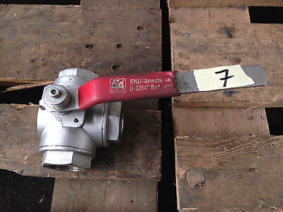 End Fittings/3-way Ball Valve / Stainless Steel 1.4408/PN50