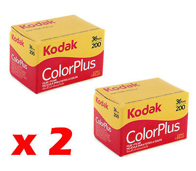 2 Rolls of Film Kodak Colorplus 36 Photo 200 Asa Iso Film Roll from Italy