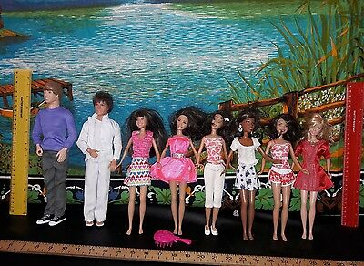high school musical dolls ( 2 singing along dolls  and Justin Bieber)