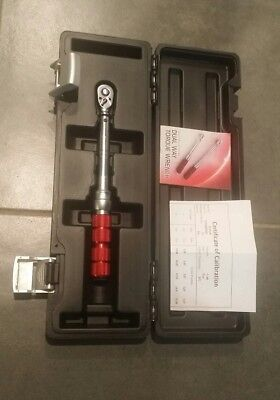 "Eurotech ET30140 1/4"" Dr 5-25Nm 45-240in-lbs Torque Wrench Calibration Cert."