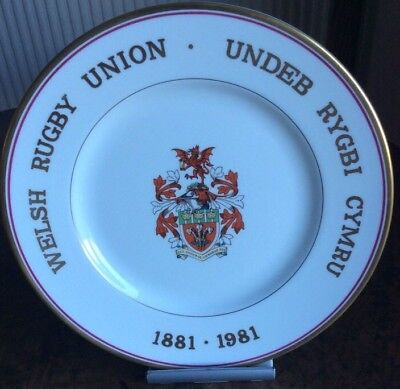 Royal  Worcester Welsh Rugby Union Centenary 1881-1981.plate