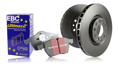 EBC Front Brake Discs & Ultimax Pads for Toyota Corolla 2.0 TD (2007 > 13)