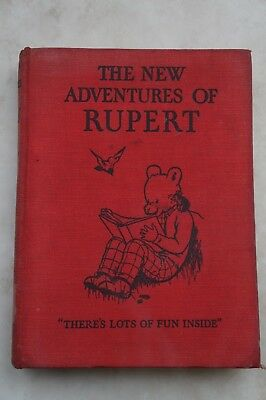 Original 1936 - The New Adventures of Rupert Annual - 1st Edition - 82 Years Old