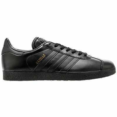 Adidas Gazelle Core Black Mens Leather Low-top Sneakers Trainers