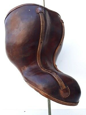 Very RARE antique leather - iron medical corset,museum piece,unusual shape,1880