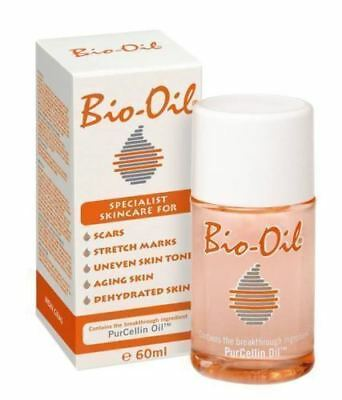Bio Oil 60ml Scars Stretch Marks Aging Skin evenTone Dehydrated PurCellin Oil2pc