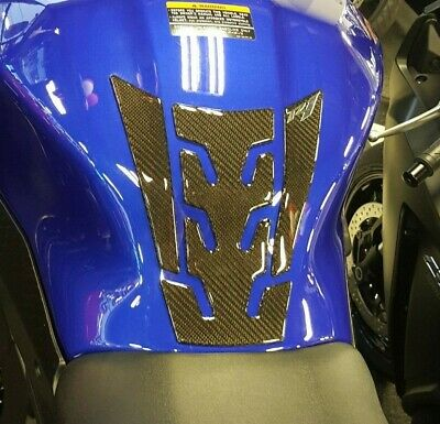 R1 REAL CARBON Fiber Yamaha YZF1000 YZF-R1 R1M Gas Cover 3D Decal